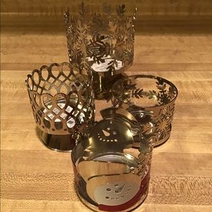 Bath and Body Works Holiday Candleholders